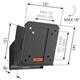 """Vogel´s W50510 pro LCD TV 17-26"""" s náklonem"""