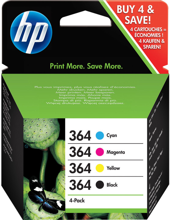 HP J3M82AE, set, č. 364, CMYK