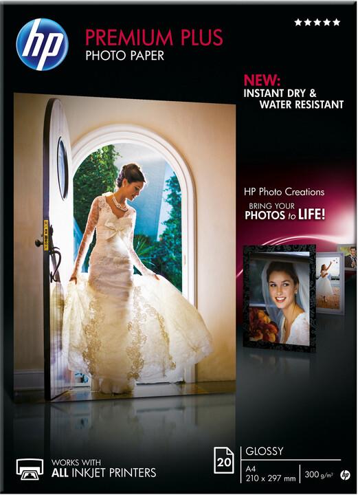 HP Premium Plus Glossy Photo Paper, A4, 300 g/m2, 20 listů