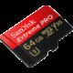 SanDisk Micro SDXC Extreme Pro 64GB 100MB/s A1 UHS-I U3 V30 + SD adaptér