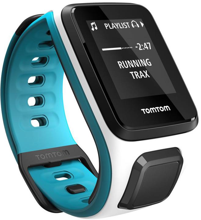 TOMTOM Runner 2 Cardio + Music (velikost S), bílá/modrá