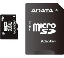 ADATA Micro SDHC 4GB Class 4 + adaptér - AUSDH4GCL4-RA1