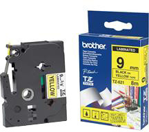 Brother - TZE-621, žlutá/černá (9mm)