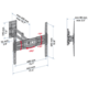 Meliconi 580417 CME Double Rotation EDR 400 nástěnný náklonný držák na TV, černá