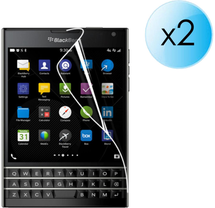 BlackBerry ochranná fólie na displej pro BlackBerry Passport (2ks)