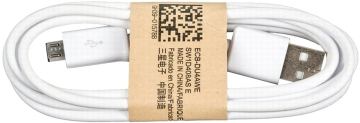 Samsung kabel micro USB, bílá - bulk