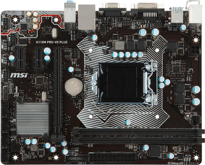 MSI H110M PRO-VD PLUS - Intel H110