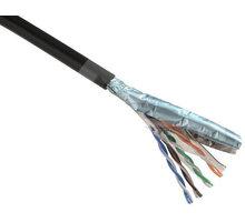 Solarix Patch Cat.5E, FTP, venkovní, stíněný, černý, 80m - FTP1000DS