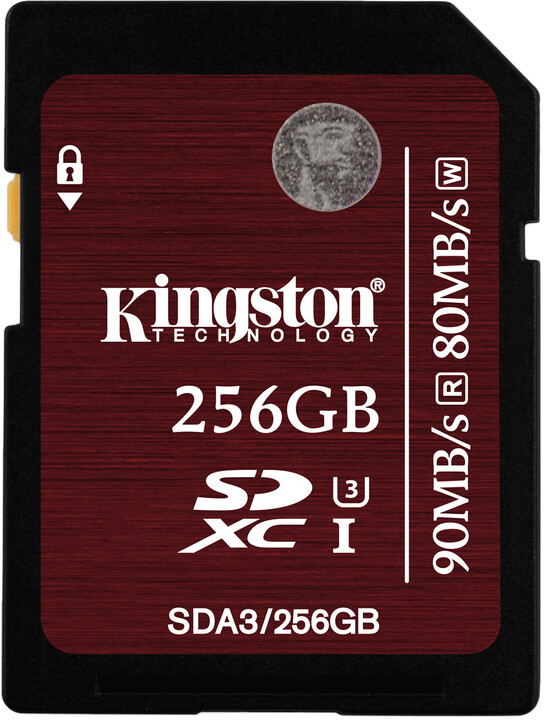 Kingston SDXC 256GB Class 10 UHS-I U3