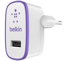 Belkin nabíječka USB, 230V, 1 x USB, 2.1A, fialová - F8J052vfPUR