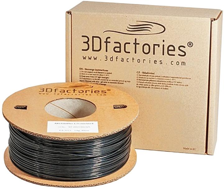 3D Factories tisková struna PLA černá 1,75 mm 1 Kg