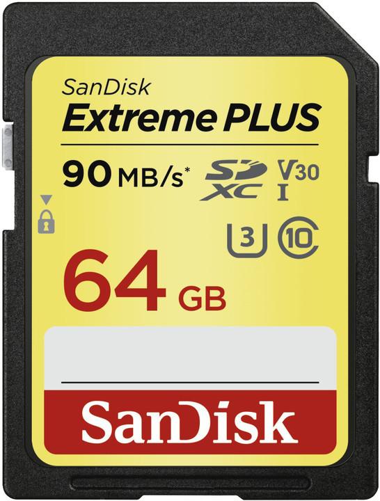 SanDisk SDXC Extreme Plus 64GB 90MB/s UHS-I U3 V30