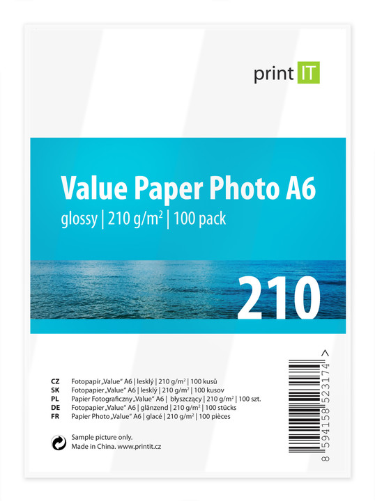 PRINT IT Value Paper Photo A6 210 g/m2 Glossy 100ks