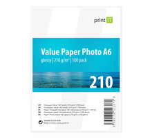 PRINT IT Value Paper Photo A6 210 g/m2 Glossy 100ks - PI-99