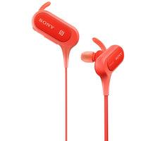 Sony MDR-XB50BS, červená - MDRXB50BSR.CE7 + Sportovní pouzdro pro telefon v ceně 150 kč