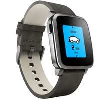 Pebble SmartWatch Time Steel, černá - PEBBLETIMESTBK