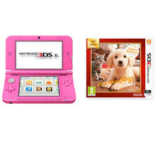 Nintendo 3DS XL, růžová + Nintendogs+Cats: Golden Retriever - NI3H223