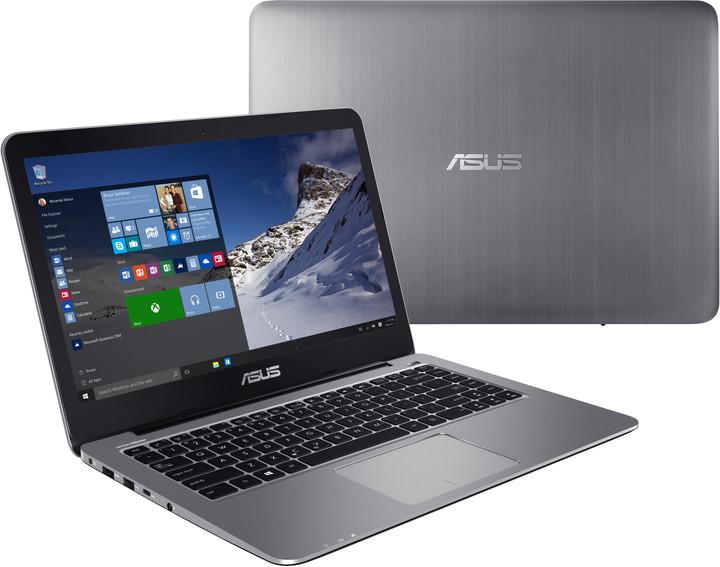 ASUS VivoBook E403NA, šedá
