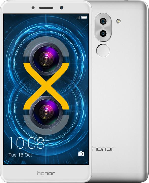 Honor 6X, stříbrná