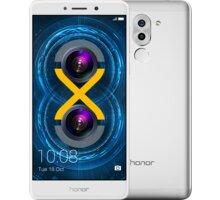 Honor 6X, stříbrná - 51091CFF + Zdarma CulCharge MicroUSB kabel - přívěsek (v ceně 249,-)