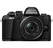 Olympus E-M10 Mark II + 14-42mm EZ + 40-150mm R, černá/černá - V207053BE000