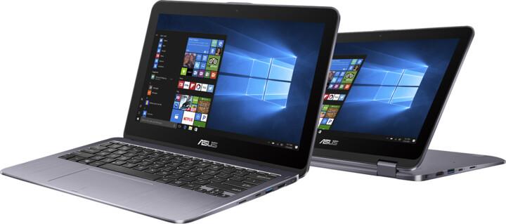 ASUS VivoBook Flip TP203NA, stříbrná
