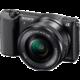 Sony Alpha 5100L, 16-50mm, černá  + Přenosný zdroj Sony CP-ELS v ceně 500 Kč