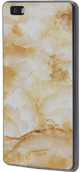 EPICO pružný plastový kryt pro Huawei P8 Lite MARBLE - gold