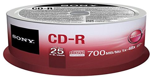 Sony CDR 48x 700MB Spindle, 25ks