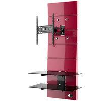 Meliconi 488312 GHOST DESIGN ROTATION Sestava pro TV a komponenty k instalaci na zeď, červená + Zdarma Meliconi C-35 P Čisticí sprej 35 ml + utěrka z mikrovlákna + štěteček (v ceně 139,-)