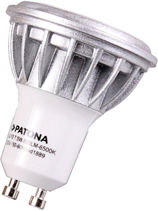 Patona GU10/230V, MR16, SMD2835, 7,5W, studená bílá, 560lm