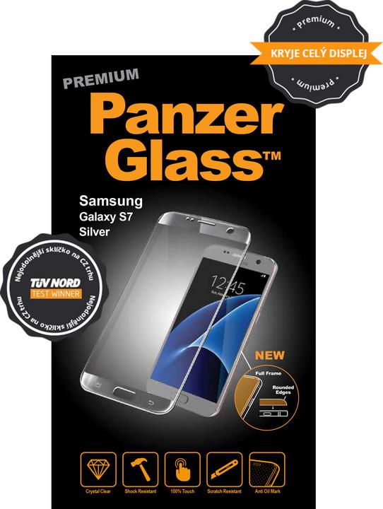 PanzerGlass ochranné sklo na displej pro Samsung S7 Premium, stříbrná