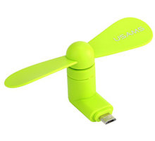 USAMS ZB021 Mobile Phone Fan USB/microUSB, zelený - 2435226