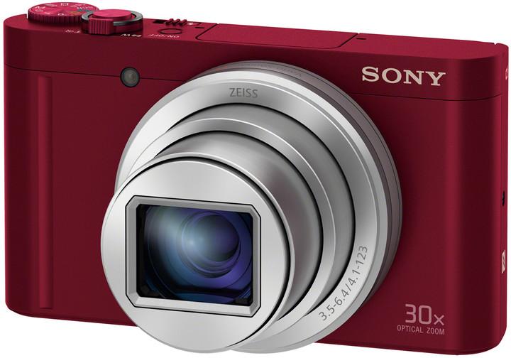 Sony Cybershot DSC-WX500, červená