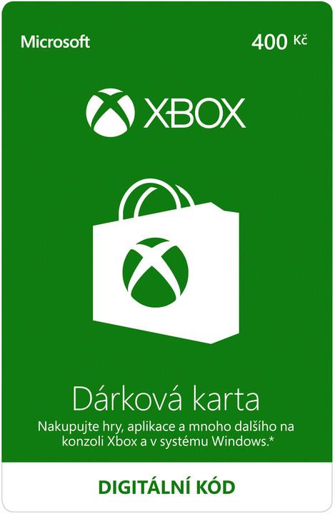 Microsoft Xbox Live dárková karta 400 Kč (elektronicky)