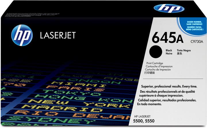 HP C9730A, černá