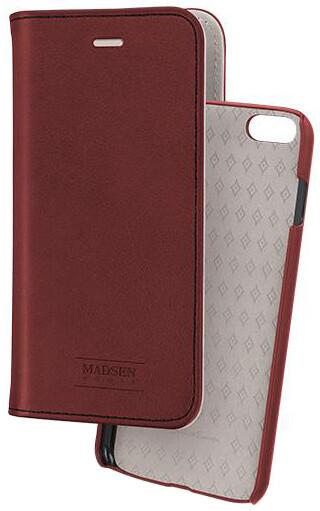 Madsen knížkové pouzdro 2 v 1 magnotické pro Apple iPhone 6/6s červené