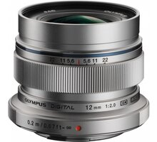 Olympus EW-M1220 12mm, F2.0, stříbrná - V311020SE000
