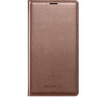 Samsung flipové pouzdro s kapsou EF-WG900B pro Galaxy S5, zlatá - EF-WG900BFEGWW