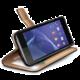 CELLY Wally pouzdro pro Sony Xperia T3, PU kůže, černá