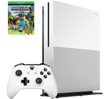 XBOX ONE S, 500GB, bílá + Minecraft - ZQ9-00047