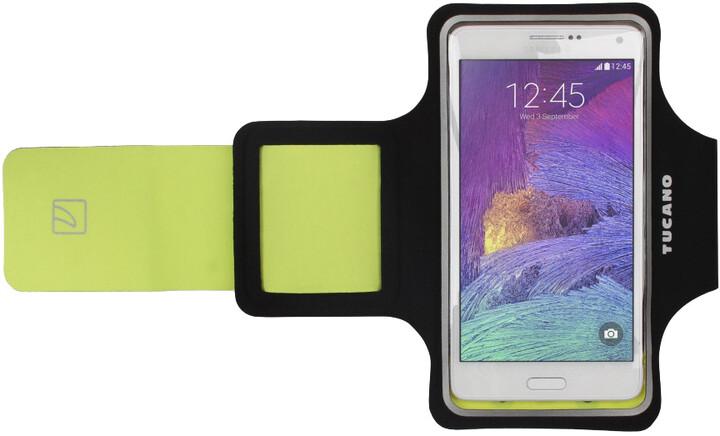 """TUCANO Armband ultratenké sportovní pouzdro pro telefony do velikosti 5,5"""", černá"""