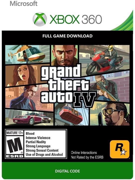 Grand Theft Auto IV (Xbox 360) - elektronicky