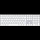 Apple Magic Keyboard s numerickou klávesnicí, bluetooth, stříbrná, CZ