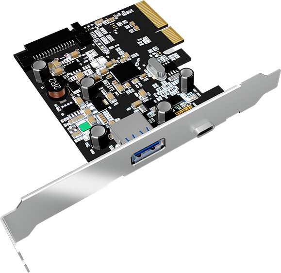 ICY BOX IB-U31-03, USB 3.1, 1x Type-C and 1x Type-A, PCI-E