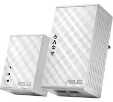 ASUS PL-N12, 300Mb/s Wi-Fi souprava HomePlug® AV500 Powerline Adapter Kit - 90IG01V0-BO2100 + Webshare VIP Silver, 1 měsíc, 10GB, voucher zdarma