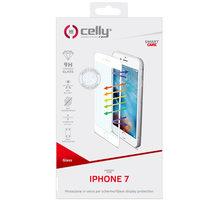 CELLY Glass ochranné tvrzené sklo pro Apple iPhone 7, bílé (sklo do hran displeje, anti blue-ray) - GLASS800WH