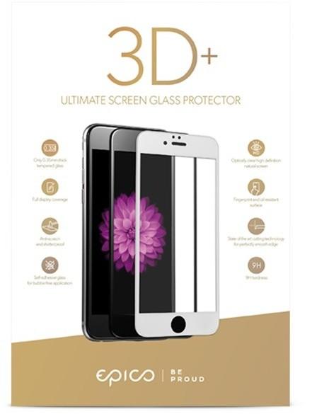 EPICO sklo 3D+ pro iPhone 6 Plus, bílá