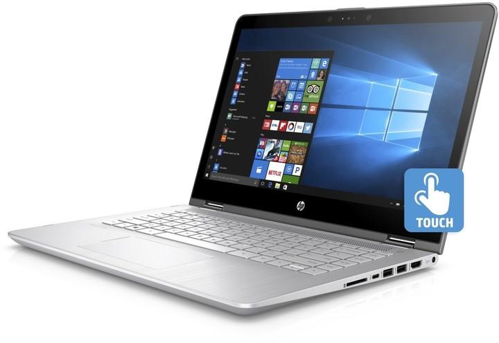 HP Pavilion x360 14 (14-ba101nc), stříbrná