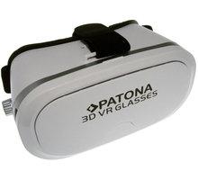 """PATONA 3D brýle pro virtuální realitu/ Smartphone 3,5""""-5""""/ bílá - PT5023"""
